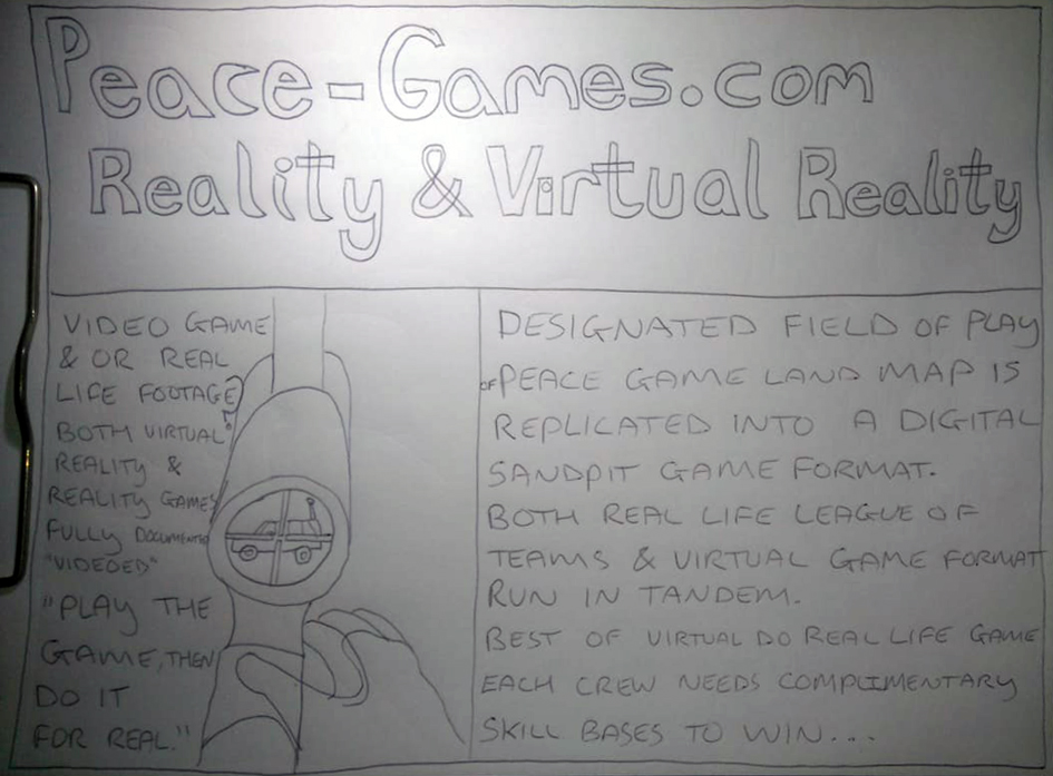 REALITY AND VIRTUAL REALITY PEACE GAMES nORTHERN iRELAND